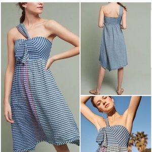 Anthropologie Maeve Plaid Waverly Midi Dress